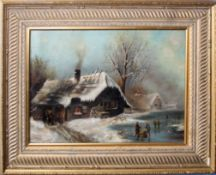 V Goldsmith (19th century), Winter landscape, oil on canvas, signed and dated 1896 lower right, 32 x