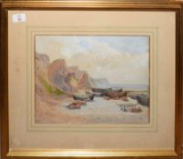 "Vincent Perronet Sells, RA (1827-1895), ""At Cromer"", watercolour, signed, dated 1874 and inscribed"