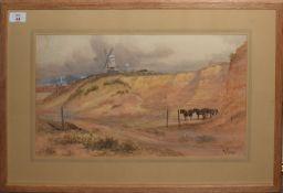 John Syer (1846-1913), Quarry scene, watercolour, signed lower right, 27 x 47cm