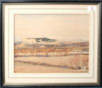 "John Yates (19th/20th century), ""Fort St Andre' Villeneuve les Avignon"" watercolour, signed and"