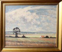 •AR Hugh Boycott Brown, RSMA (1909-1990), East Anglian landscape, oil on board, signed lower