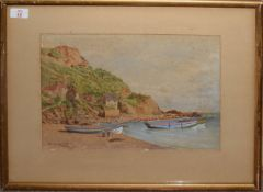 "Vincent Perronet Sells, RA (1827-1895), ""Runswick"", watercolour, signed, dated 1893 and inscribed"
