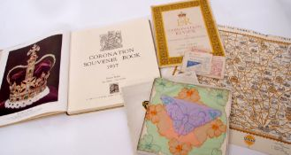 Various ephemera including Coronation of Queen Elizabeth II service sheet for ex-servicemen and