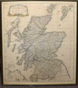 John Bowles - a map of North Britain or Scotland from the newest surveys and observations, hand