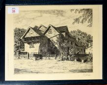 "Henry James Starling, ARE, (1895-1996), ""Marlingford Mill, Norfolk"", black and white etching, signed"