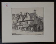 "Henry James Starling, ARE, (1895-1996), ""Ber Street, Norwich"", black and white etching, signed,"