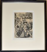 Iris Francis (1913-2004), Royal Procession, black and white print, signed in pencil to mount, 15 x