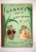 BABAR'S VISIT TO BIRD ISLAND, Methuen & Co, London 1952, printed by W S Cowell