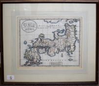 Isaak Tirion - Carta Accurata dell'Imperio dell Giappone, hand coloured engraved map, 25 x 32cm