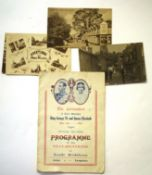Small group of postcards and Coronation program of celebrations at North Walsham, the cards