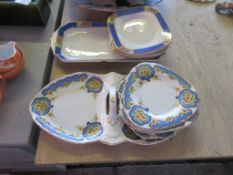 TWO PART SANDWICH SETS (ALLERTONS AND BURLEIGH WARE)