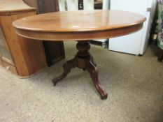 LATE 19TH CENTURY CIRCULAR HALL TABLE, DIAM APPROX 102CM (TOP SPLIT)