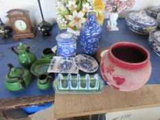 COLLECTION OF VARIOUS CERAMICS INCLUDING WATCOMBE PART TEA SET, ABBEY JAM POT, SHELLEY TOAST RACK