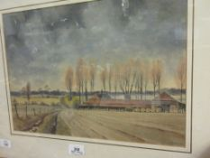 """PETER SOLLY (20TH CENTURY), """"SPRING AT INGWORTH"""", WATERCOLOUR, SIGNED LOWER RIGHT, 29 X 41CM"""
