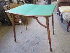 FOLDING PORTABLE CARD TABLE, SQUARE TOP, APPROX 72CM SQUARE