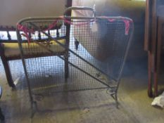 MID-20TH CENTURY METAL SPARK GUARD, HEIGHT APPROX 69CM