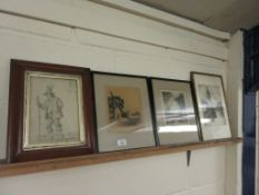SELECTION OF FOUR VARIOUS FRAMED PRINTS