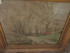 KENNETH W LUCK (1874-1936), COUNTRY LANE, OIL ON CANVAS, SIGNED LOWER LEFT, 37 X 47CM