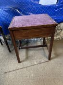 EDWARDIAN SMALL PIANO STOOL WITH STRUNG DECORATION