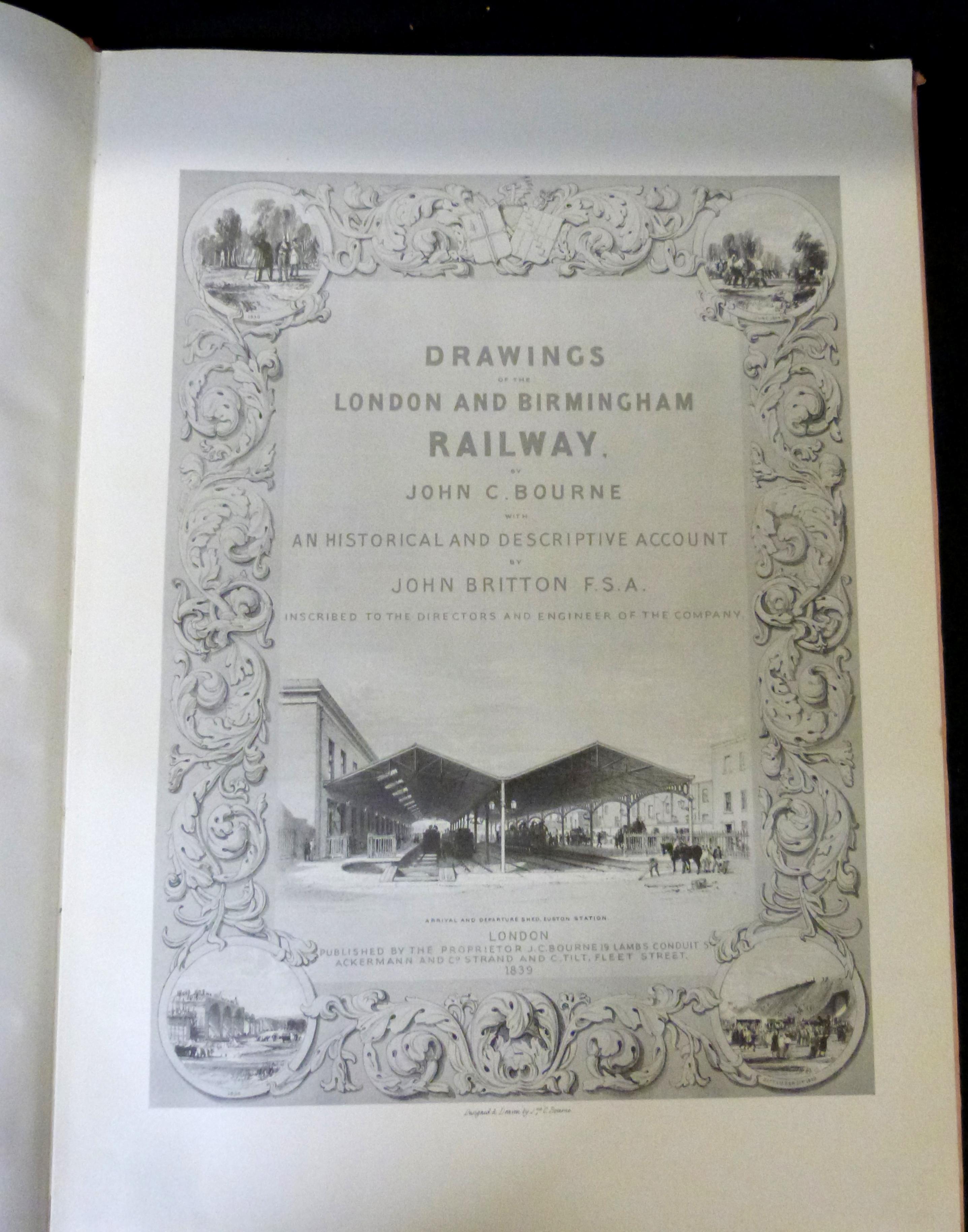 JOHN C BOURNE: BOURNE'S LONDON AND BIRMINGHAM RAILWAY, Newton Abbot, David & Charles, 1970, - Image 3 of 4