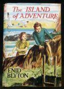 ENID BLYTON: THE ISLAND OF ADVENTURE, ill Stuart Tresilian, London, MacMillan, 1944, 1st edition,