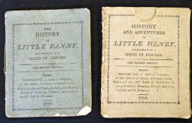 ANON: 2 titles: THE HISTORY OF LITTLE FANNY EXEMPLIFIED IN A SERIES OF FIGURES, London for S & J