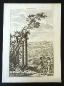 GEORGE BICKHAM: NORFOLK, engraved perspective view of the county [1796], reissue, pub Laurie &