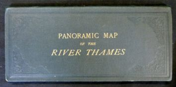 WILLIAM TOMBLESON: TOMBLESON'S PANORAMIC MAP OF THE THAMES AND MEDWAY, London, J Reynolds [1887],