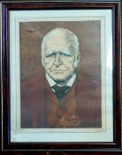 "*EDMOND XAVIER KAPP, 6 coloured caricature prints pub ""The Law Journal"", 1925, approx 275 x 230mm,"