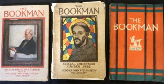 THE BOOK MAN SPECIAL CHRISTMAS NUMBER, 1926, 1928, 1933, 3 vols, 1st work ill Anne Anderson, A