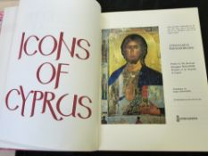ATHANASIUS PAPAGEORGIOU: ICONS OF CYPRUS, trans James Hogarth, London, The Arcadia Press, 1971 (265)