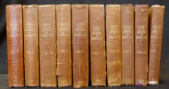 AGNES STRICKLAND: LIVES OF THE QUEENS OF ENGLAND, London, Henry Colburn, 1841-47, vols 1-10 (of 12),