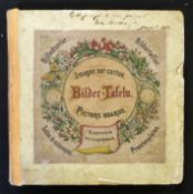 *BILDER TAFELN, set of 6 German picture boards, circa 1880, hand coloured litho ills on both sides,