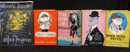 GEOFFREY WILLANS: 3 titles: DOWN WITH SKOOL, ill Ronald Searle, London, Max Parrish, 1953, 1st