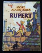 MORE ADVENTURES OF RUPERT [1942] annual, price unclipped, 4to, original pictorial wraps, vgc