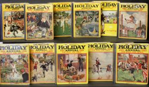 "THE GREYFRIARS HOLIDAY ANNUAL 1920-30, 11 vols, 1920 annual title ""The Holiday Annual"", original"