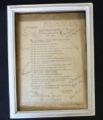 *THOMAS JONES, BARON MAELOR (1898-1984): RESOLUTIONS WHEN I COME TO BE OLD, 1950, printed sheet