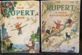 RUPERT IN MORE ADVENTURES, [1944] annual, price unclipped, 4to, original pictorial wraps + A NEW