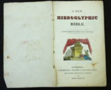 A NEW HIEROGLYPHIC BIBLE, Liverpool, E Willmer, London, Thorp & Burch, circa 1828, hand coloured