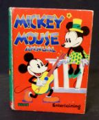 WALT DISNEY: MICKEY MOUSE ANNUAL, London, Dean & Sons [1935], coloured frontis, contents clean,