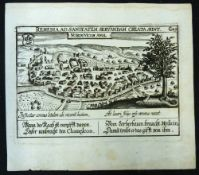 DANIEL MEISNER: NORDOVICUM ANGL, engraved plan, 2nd state, Nuremberg [1638], approx 100 x 145mm