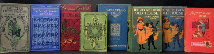 EVELYN EVERETT-GREEN: 8 titles; SMOULDERING FIRES, ill E H Shepard, London, Edinburgh, Dublin and