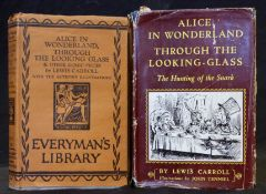 "REV CHARLES LUTWIDGE DODGSON ""LEWIS CARROLL"": 2 titles: ALICE IN WONDERLAND, THROUGH THE LOOKING"