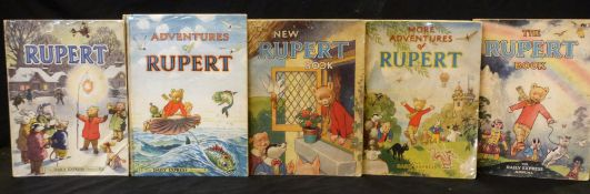 THE NEW RUPERT BOOK, [1946] annual, price unclipped, 4to, original pictorial wraps + MORE ADVENTURES