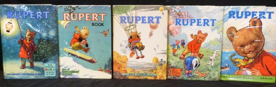RUPERT ANNUAL, [1951-57], 1958-60, 10 vols, 4to, original pictorial boards, mainly vgc (10)