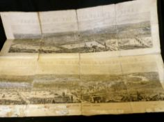 *THE ILLUSTRATED LONDON NEWS (PUB): PANORAMA OF THE RIVER THAMES, wood engraved panorama, 1854, 2
