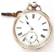 Last quarter of 19th century/first quarter of 20th century Continental white metal cased pocket