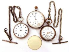Mixed Lot: import hallmarked silver pocket watch with button wind (lacking circlet), import hallmark