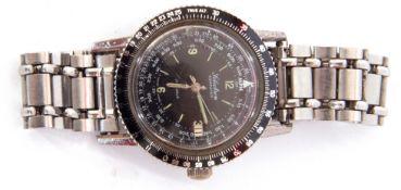 "Third quarter of the 20th century gentleman's ""Selectron"" computer wrist watch, having luminous"