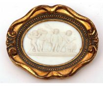 """Carved hardstone plaque, copy of """"Cameo representing the Hymeneal Procession of Eros and Psyche"""", ("""